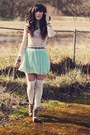 Eggshell-guess-socks-dark-khaki-jeffrey-campbell-heels