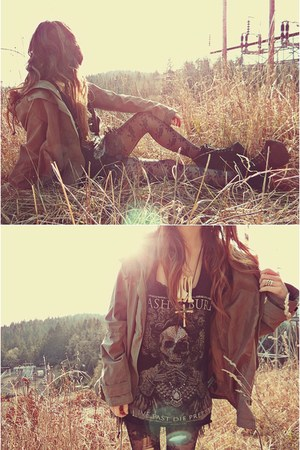 Jeffrey Campbell boots - Macys jacket - CRASH & BURN shirt - Express tights