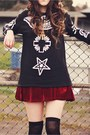 Crimson-oasap-skirt-black-sammy-dress-boots-black-sheinside-sweater