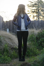 blue Ross jacket - black 001 Wet Seal boots - black Target jeans
