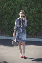 charcoal gray kirna zabete for target dress - heather gray H&M bag
