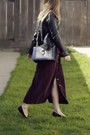 Black-marc-jacobs-bag-crimson-vintage-dress-black-steve-madden-loafers