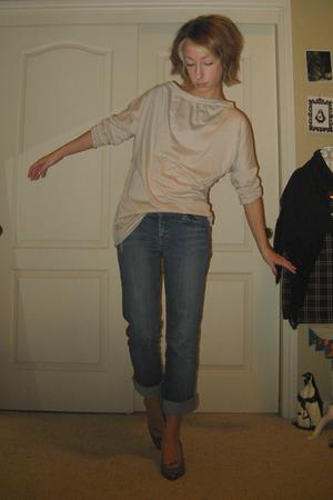 blue Element Denim jeans - orange vintage from crossroads shoes - beige Self Mad