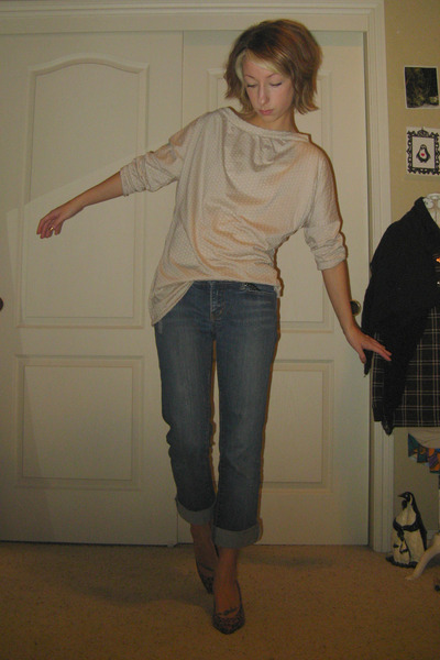 blue Element Denim jeans - orange vintage from crossroads shoes - beige Self Mad