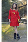 Black-macys-boots-red-j-crew-factory-dress-hot-pink-besty-johnson-bag