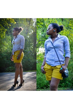 mustard Forever 21 shorts