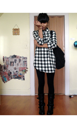American Eagle blouse - Steve Madden shoes - Gap purse - Gap coat
