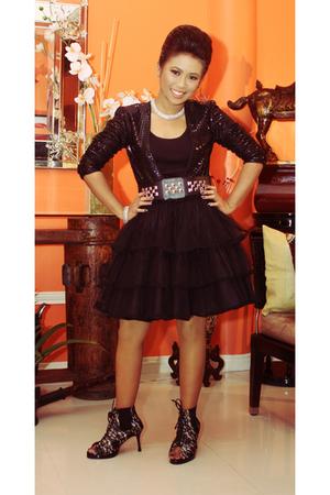 Poisonberry blazer - Glitterati belt - skirt - tonic shoes