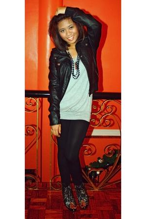 tonic boots - Topshop jacket - brandless leggings - Bayo