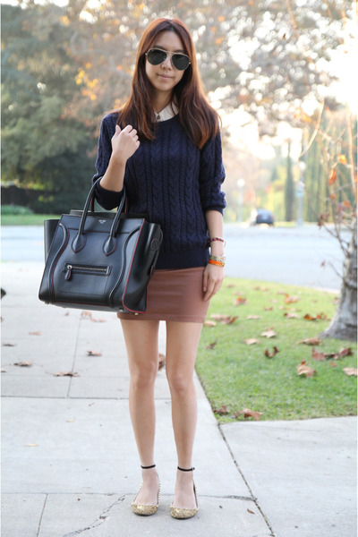 Celine bag - Zara shoes - H&M sweater - H&M skirt