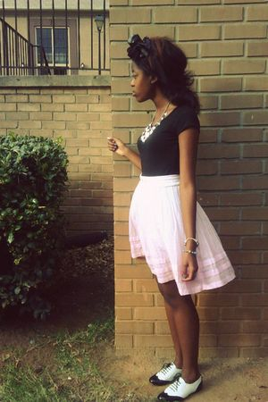 black danskin top - pink Old Navy skirt - black Forever21 accessories - white Ca