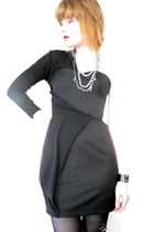 black Risto dress - black surface to air shoes - silver oak necklace
