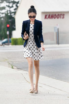 Topshop dress - JCrew blazer - Clare Vivier bag - Tom Ford sunglasses