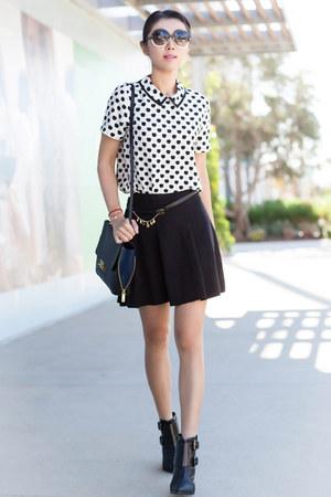 Full skirt - Parker skirt - Tibi boots - JCrew bag - Tom Ford sunglasses