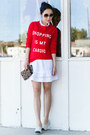 Wildfox-sweater-clare-vivier-bag-anine-bing-skirt