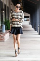 Anthropologie sweater - Zara shirt - Jeffrey Campbell heels