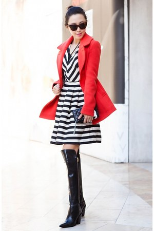 JCrew coat - banana republic dress