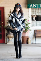 Tracy Reese via Anthropologie coat - stuart weitzman boots