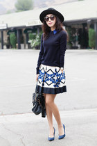 robert rodriguez skirt - Anthropologie hat - Marc by Marc Jacobs sweater