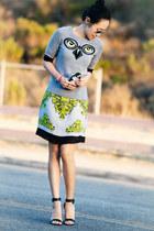 milly dress - milly sweater - Tibi Edita sandals