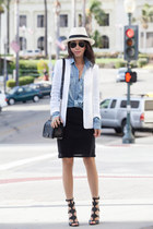 JCrew shirt - Theory blazer - Sigerson heels