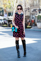 Sigerson Morrison boots - milly dress - Michael Kors bag
