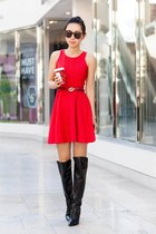 Sigerson Morrison boots - Parker dress - BCBGeneration