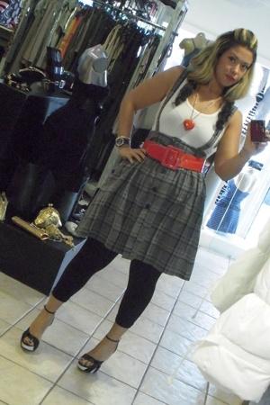H&M skirt - Zara belt - Bakers shoes