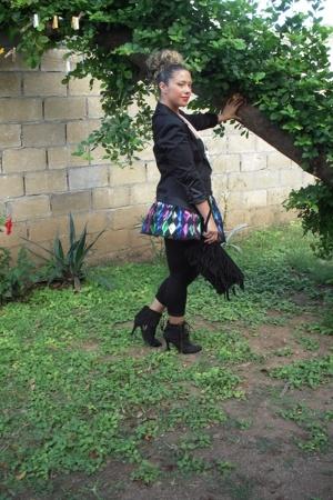 vintage jacket - asos skirt - Bakers purse - sxm shoes