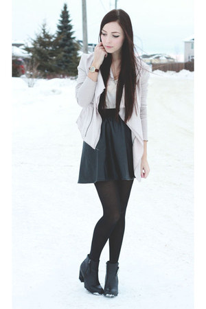 black Spring boots - ivory Shop Akira blazer - black GoodNight Macaroon skirt