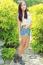 Heather-gray-forever-21-shoes-blue-forever-21-shorts-cream-forever-21-top