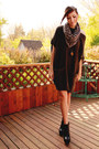 Black-romwe-boots-dark-brown-girlfriends-material-sweater