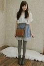 Gray-forever-21-boots-brown-forever-21-bag-light-blue-forever-21-skirt-ivo