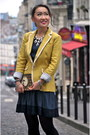 Zara-dress-banana-republic-blazer-dkny-tights-baublebar-necklace