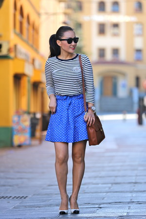 Tag Heuer watch - coach bag - vintage sunglasses - JCrew skirt - Zara heels