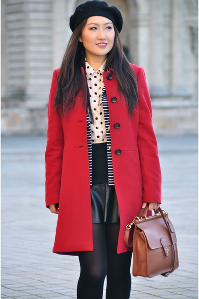 banana republic blazer - banana republic coat - coach bag - Skirt skirt