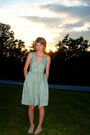 Green-j-crew-dress-gold-sarah-coventry-thrifted-necklace-beige-kate-preston-