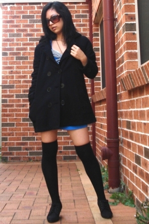 dress - coat - socks - shoes