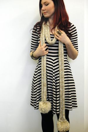 made by me scarf - Glassons dress