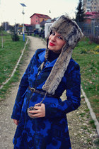 blue Casa de Moda Fancy coat - black Filty boots