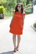 carrot orange asos dress - yeswalker sandals