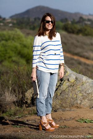 tortoise shell Michael Kors watch - boyfriend jeans Silver Jeans Co jeans