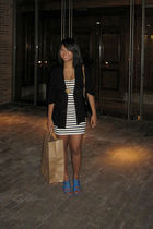 Aldo shoes - H&M dress - Forever 21 blazer - H&M bag