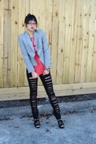 Salvation Army blazer - Worn Free t-shirt - Ross pants - f21 shoes - UO accessor