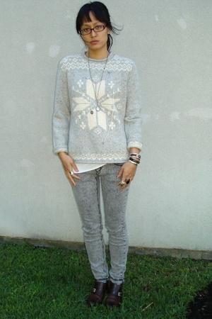 Ralph Lauren sweater - Target top - vanilla star jeans - Cole Haan shoes - Ebay
