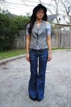 aa top - banana republic vest - Target belt - Zara jeans - Salvation Army shoes