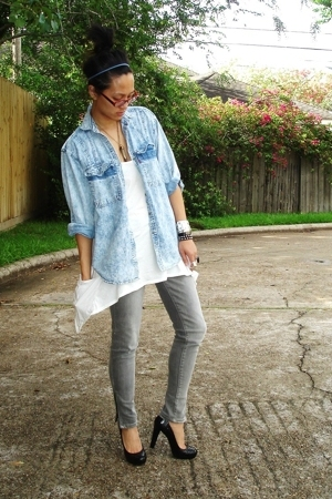 Salvation Army shirt - UO top - UO jeans - ck shoes