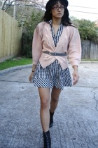vintage sweater - H&M dress - Salvation Army belt - payless boots