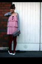 carlings dress - Glitter purse - Seppl tights - H&M sunglasses