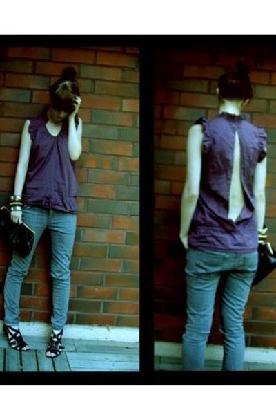 Vila jeans - Topshop blouse - DinSko shoes - Bianco purse